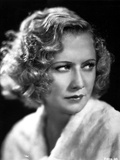 Miriam Hopkins on a Fluffy Ward Robe Cloth Portrait