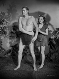 Johnny Weissmuller Defending a Woman in a Movie Scene
