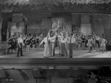 Al Jolson Rehearsing on the Stage with the Whole Group