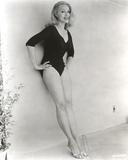 Julie Newmar Leaning Posed in Black Lingerie