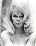 Stella Stevens Nude in Black and White Close Up Portrait