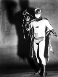 Batman posed in Portrait with Black Background