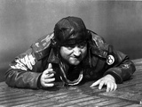 John Belushi Crawling in Army Outfit With Helmet