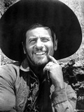 Eli Wallach Posed in Cowboy Outfit With Big Hat