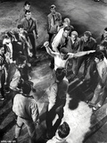 West Side Story Fighting Scene in Black and White