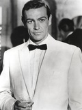Sean Connery Posed in Tuxedo with Black Bow Tie