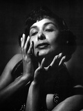 Lena Horne in Close Up Portrait in Black and White