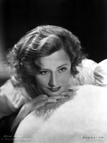 Irene Dunne Leaning on a Furry Cloth Portrait