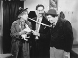 Marx Brothers Scene with a Man Holding a Rabbit