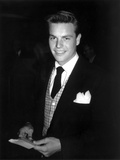 Robert Wagner Posed in Black Suit With Black Background