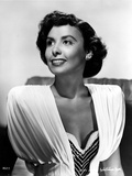 Lena Horne in White Dress in Black and White Outfit