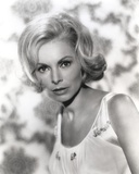 Janet Leigh Portrat in White Scoop-Neck Strap Dress