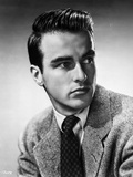 Montgomery Clift Looking Right in Coat and Tie