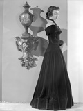 Gloria Grahame Side View Posed in a Black Dress