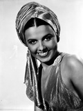 Lena Horne Close Up Portrait in Black and White
