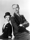 Edgar Bergen Leaning in Black Suit With Puppet