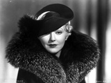 Thelma Todd Portrait in Feather Coat with Hat