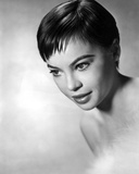 Leslie Caron Close Up Portrait in Black and White