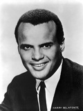 Harry Belafonte in Black With White Background