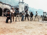 Magnificent Seven Cowboy's Gunfight in Movie Scene