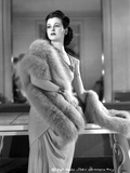 Joan Bennett on a Furry Shawl and standing Portrait