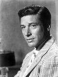 Efrem Zimbalist in Stripe Suit With Signature