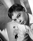 Leslie Caron posed in Classic Close Up Portrait