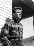 Burt Lancaster wearing Checkered Long Sleeve Polo