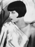 Louise Brooks Looking Away in Glossy Dress Portrait