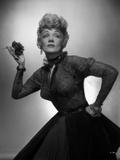 Marlene Dietrich Squatting Pose in Classic Dress