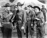 Abbott & Costello in Ranger Uniform Holding Gun
