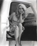 Stella Stevens Posed in Car Classic Portrait