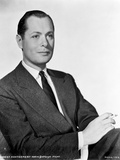 Robert Montgomery in Black With White Background
