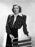 Irene Dunne on Diamond Printed Top standing Portrait