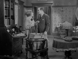 Al Jolson Talking with a Maid Inside the Room