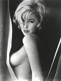 Stella Stevens Topless in Black and White Portrait