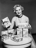 Virginia Mayo smiling and Endorsing a Product