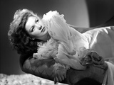 Anne Baxter on a Ruffled Dress Lying and posed
