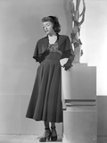 Gloria Grahame in Black Dress with Black Heels