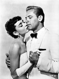 Audrey Hepburn and William Holden Sabrian Kissing