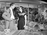 Las Vegas Story in Black and White Couple Scene