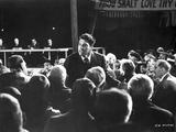 Elmer Gantry Talking Scene in Black and White