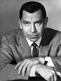 Jack Webb Looking Serious With Two Hands Cross