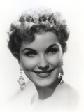 Debra Paget Black and White Close Up Portrait