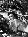Maureen O'Sullivan Lying on the Grass and smiling