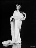 Gloria Swanson Posed in Fur Coat Classic Portrait