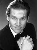 Jeff Bridges Posed in Suit With Black Background