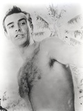 Sean Connery Undress Black and White Portrait