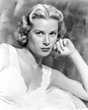Grace Kelly wearing Black Leather Jacket Portrait