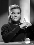 Dorothy McGuire on a Long Sleeve Top and posed